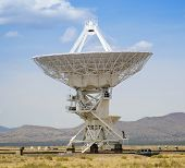 A Very Large Array Scene In New Mexico