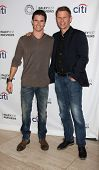 LOS ANGELES - SEP 7:  Robbie Amell, Mark Pellegrino at the PaleyFest Previews:  Fall TV CW -