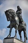 Equestrian statue in Prague