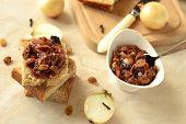 Onion confiture (jam) selective focus