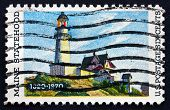 Postage Stamp Usa 1970 Lighthouse At Two Lights, Maine