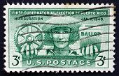 Postage Stamp Usa 1961 Puerto Rican Farmer