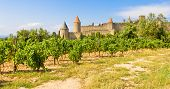 Panoramic View Of Carcassonne, France