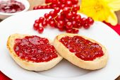 English Muffins With Jam