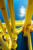 Oil and Gas Producing Slots at Offshore Platform - Oil and Gas Industry
