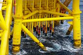 picture of offshoring  - Oil and Gas Producing Slots at Offshore Platform  - JPG