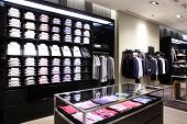 picture of department store  - luxury and fashionable european different clothes shop - JPG