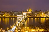 Chain Bridge and skyline of Pest, Budapest