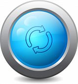pic of reboot  - 3d blue round web button with reload icon - JPG