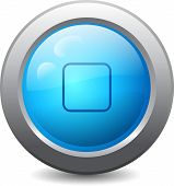 Web Button With Stop Icon