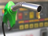 stock photo of fuel pump  - Gas pump with a drop of gasoline fuel - JPG