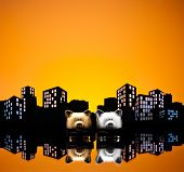 Metropolis City Gay Piggy Bank Civil Union