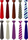 Men's colored neckties vector illustration
