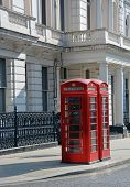 Red London Telephone Boxes At Lancaster Gate