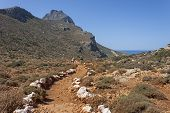 trekking at Gramvoussa, Crete