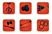 Juggling Icons Red