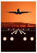 Airliner Landing At Skyline