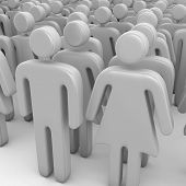 Crowd Of 3D People