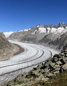 aletsch glacier,  Bettmeralp in Switzerland