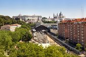 Madrid View, With Prince Pio Station, Royal Palace And The Almudena Cathedral