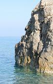 Rock wall on the sea