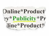 Marketing concept: Publicity on Paper background