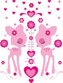 picture of bambi  - Animal Pretty Teen Kids Sweet Pink Bambi - JPG