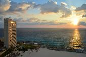 Caribbean Sea sunrise in Cancun