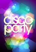 Disco party design on a bokeh background. Eps10.