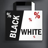 Black White Shopping Bag