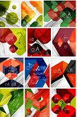 Mega set of paper geometric backgrounds.