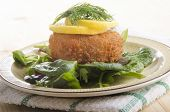 Smoked Haddock Fishcake On Salad