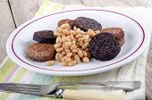 Black And White Pudding With Beans