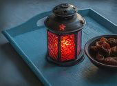 Ramadan Lamp And Figs Still Life