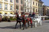 Horse-drawn Carriage In Krakow