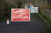Road Closed Sign, Flooding