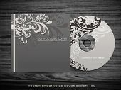stylish floral cd cover design art