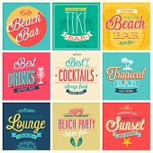 stock photo of tiki  - Beach Bar set  - JPG