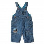 Blue Children's Jeans On Straps
