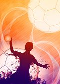 Handball Girl Background