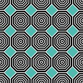 foto of octagon  - Octagon pattern including seamless sample in swatch panel - JPG