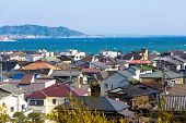 Landscape view of Kamakura town