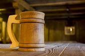 Wooden Mug On A Table