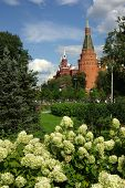 The Corner Arsenal Tower In Moscow Kremlin