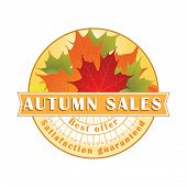 Fall Sales Stamp / Label.