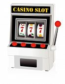 Illustration of a detailed slot machine