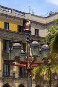 Lamp Post Of Antoni Gaudi - Barcelona Spain