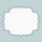 Blue And White Chevron Zigzag Frame Background