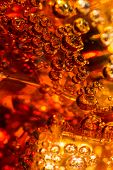 image of coca-cola  - Cola in glass with ice and a bubbles of gas - JPG