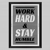 image of humble  - 3D Photo Frame Design of Work Hard and Stay Humble - JPG